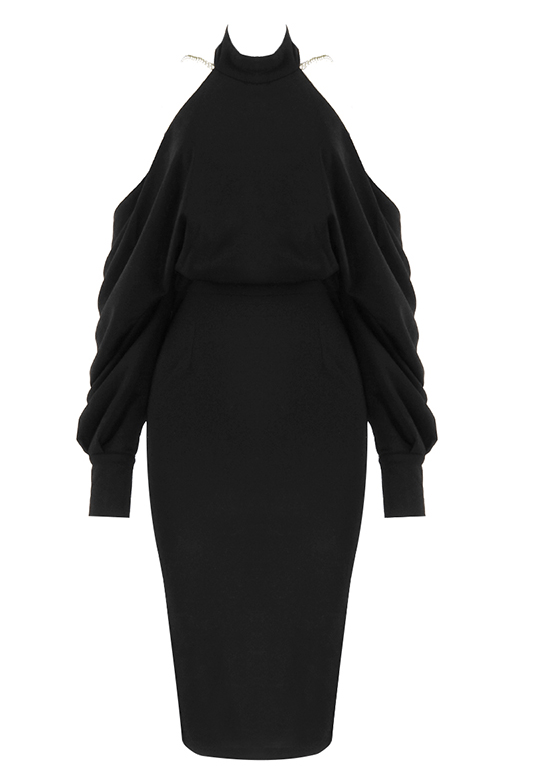 Marilyn Black Midi Dress