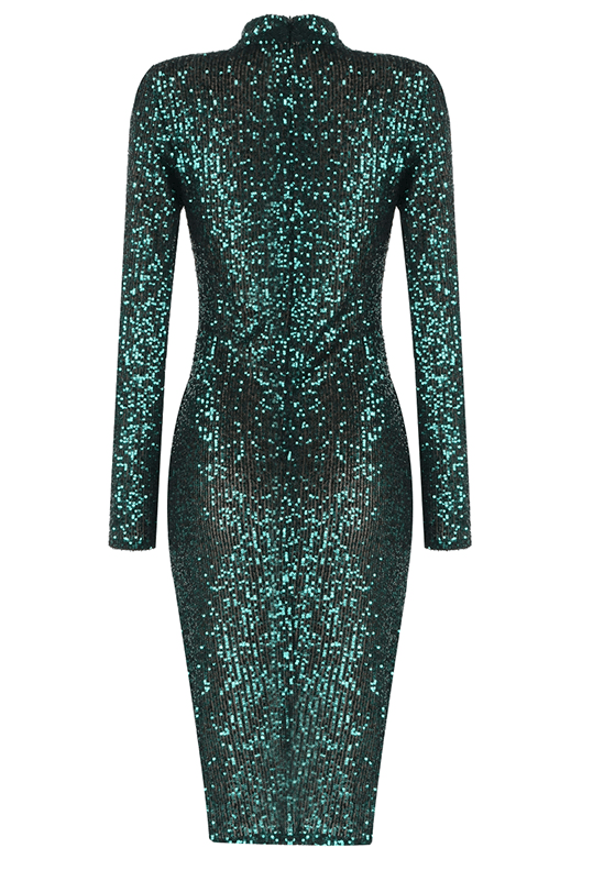 Luanne Green Sequin Midi Dress