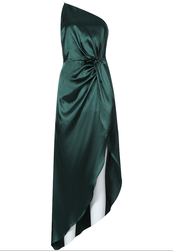 Ruby Green Satin Dress