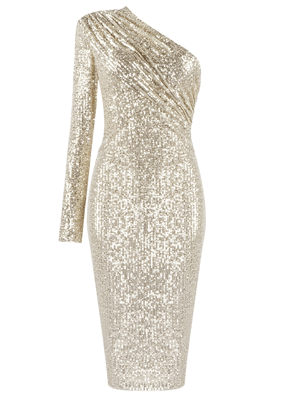 Kristi Gold Sequin Dress