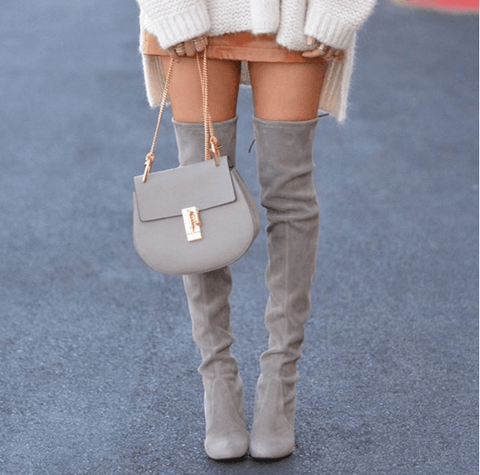 Jorja Taupe Suede Leather Boots