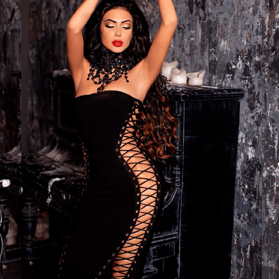 Tiana Black Bandage Maxi Dress