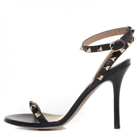 Bailey Black Leather Sandals