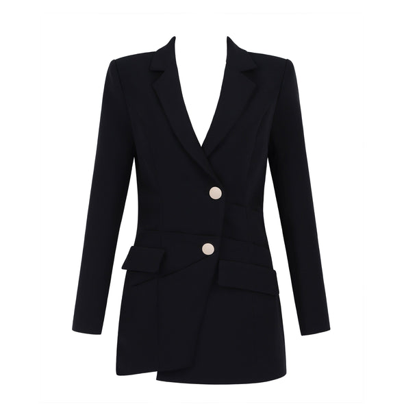 Katelyn Black Blazer Dress