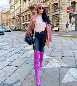 Gianna Purple Suede Boots