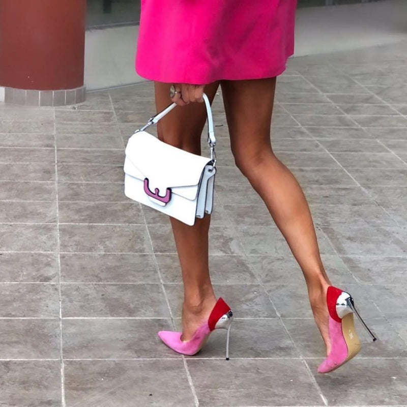 Cassidy Red & Pink Suede Leather Pumps
