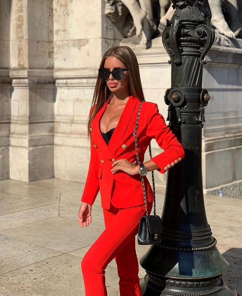 Perlina Red  Two Piece Set - LIMITED STOCK