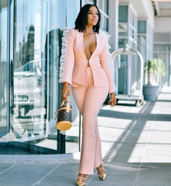 Gabriela Nude Two Piece Set