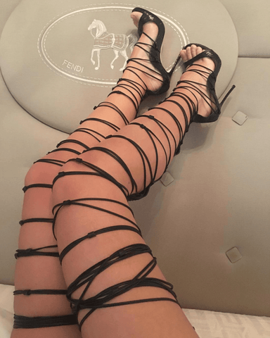 Riki Lace Up Knee High Sandals