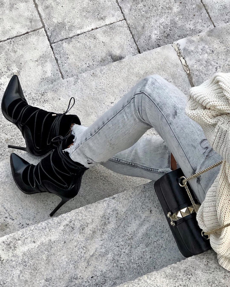 Melina Lace Up Boots