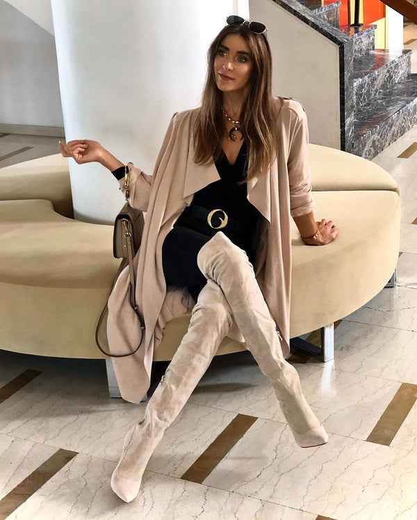 Gianna Sand Suede Leather Boots
