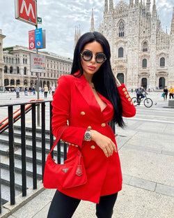 Vilma Red Blazer Dress