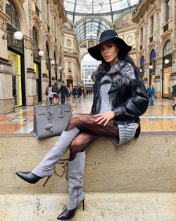 Larissa Grey Knee High Boots