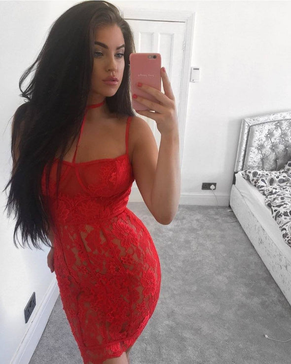 Chastity Red Lace Dress