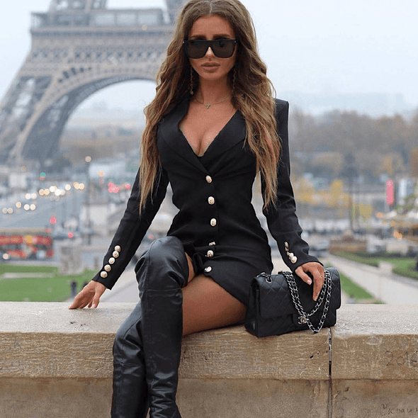 Jacinta Black Mini Blazer Dress