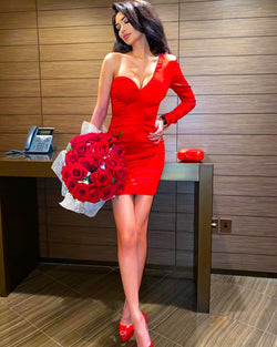 Marion Red Mini Dress
