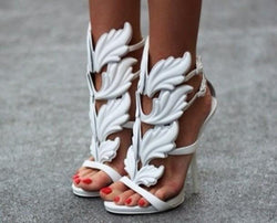 Lelani White Leather Sandals