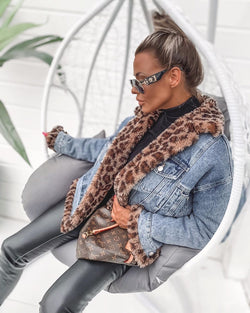 Shea Leopard Reversible Jacket