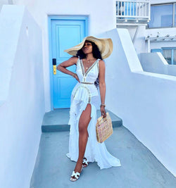 Estelle White Maxi Dress