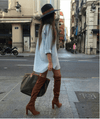 Jorja Tan Suede Leather Boots