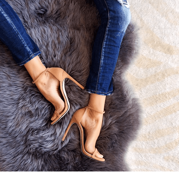 Sky Tan Suede Leather Sandals