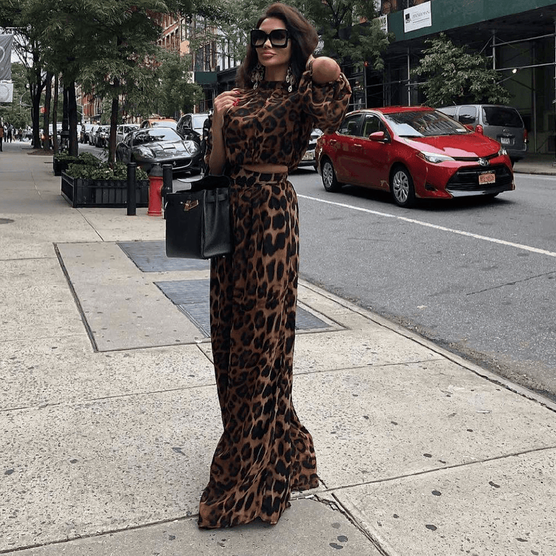 Quinn Leopard Two Piece Set