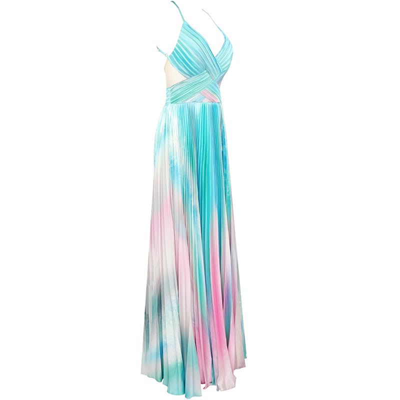 Franca Pleated Maxi Dress