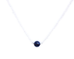 Silver Collection: Blue Lapiz Necklace
