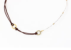 (Discontinued) Leather and Bead Necklace