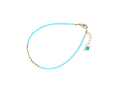 Gold Collection Turquoise Beaded Bracelet
