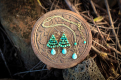 (Discontinued) Turquoise Raindrop Earrings