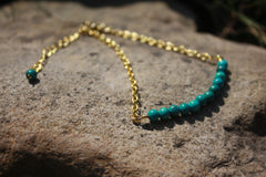 Gold Collection Turquoise and Gold Bracelet
