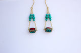 Tibetan Stone Dangle Earrings