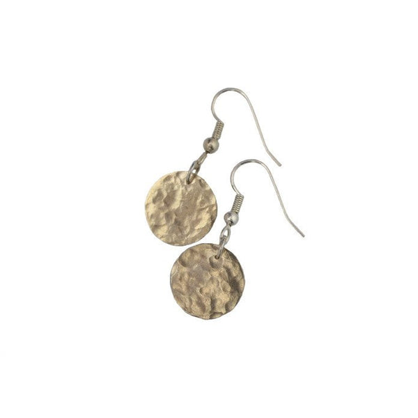 Gold Collection Hammered Disc Earrings (New!)