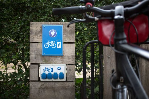 Loading station for electric bikes, Holland