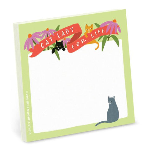 Emily McDowell & Friends Sticky Notes | Cat Lady | Cards/Stationary | $5.00