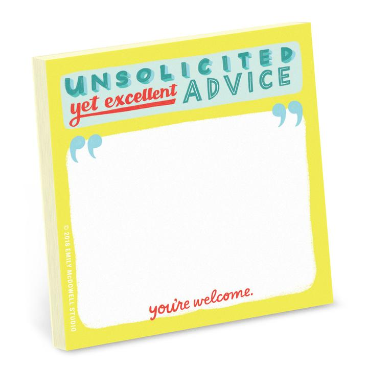 Emily McDowell & Friends Unsolicited Advice Sticky Notes | Multi | Cards/Stationary | $5.00