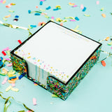 Taylor Elliott Sticky Note Holder| Confetti | Home & Gifts | $26