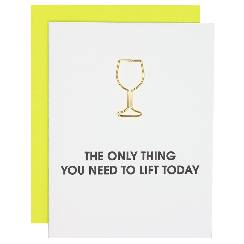 Chez Gagne' Paper Clip Pressed | Wine Glass | Cards/Stationary | $8