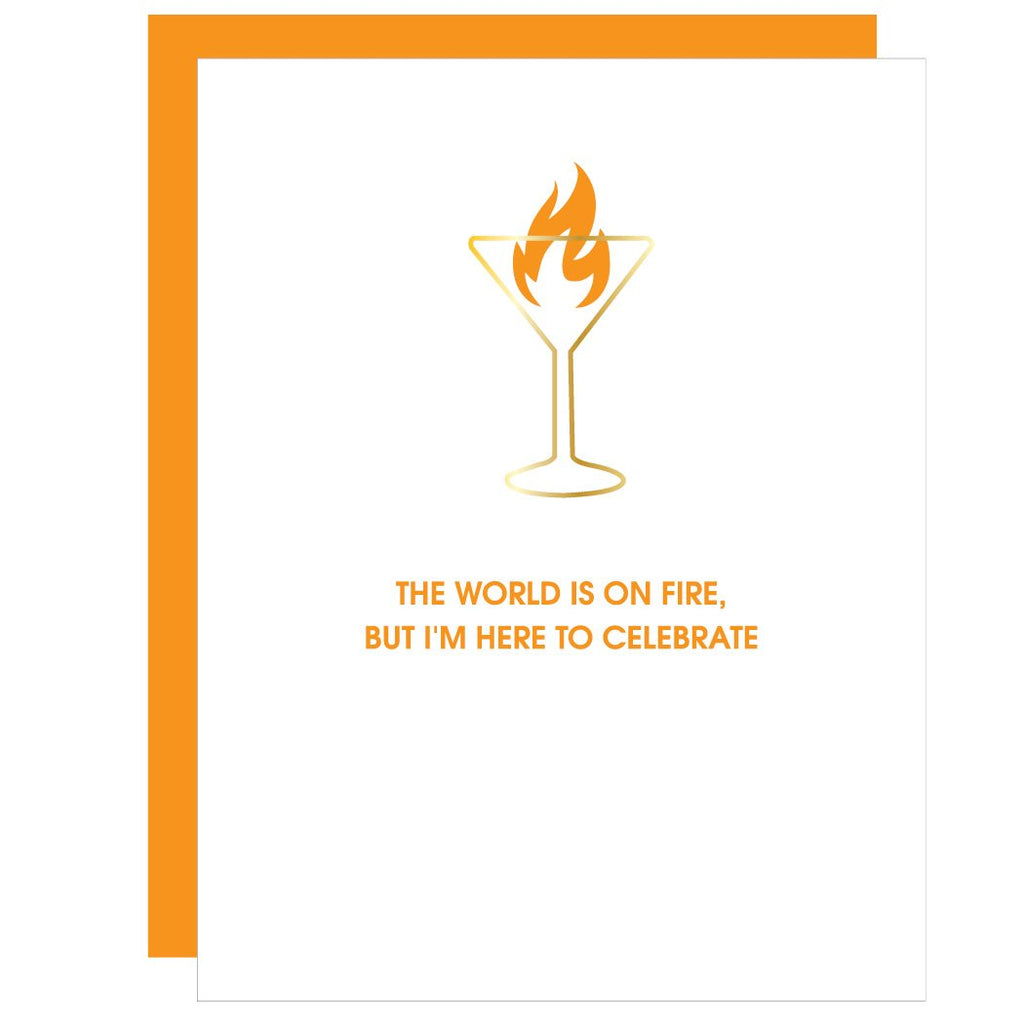 Chez Gagne' Paper Clip Pressed | Martini Fire | Cards/Stationary | $8