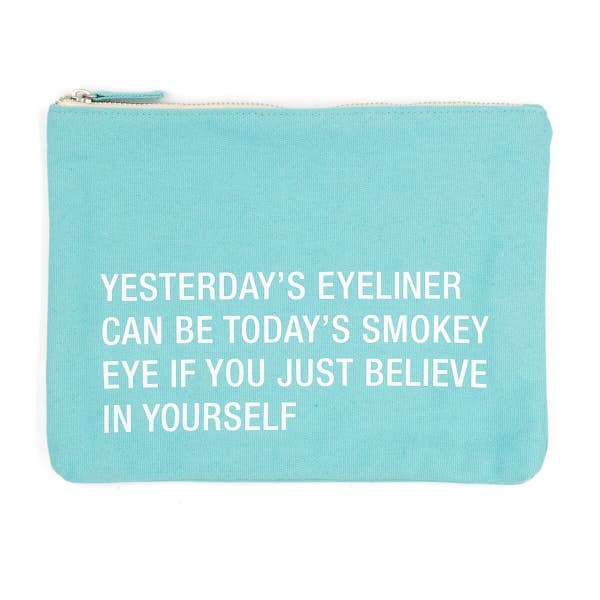 About Face Large Cosmetic Bag | Yesterday's Eyeliner | Cases | $18