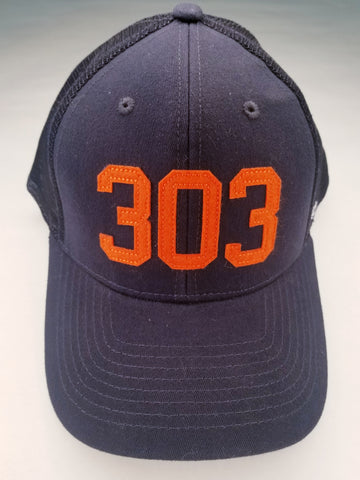 (Code) word Mile High | Navy/Orange 303 | Hats | $35