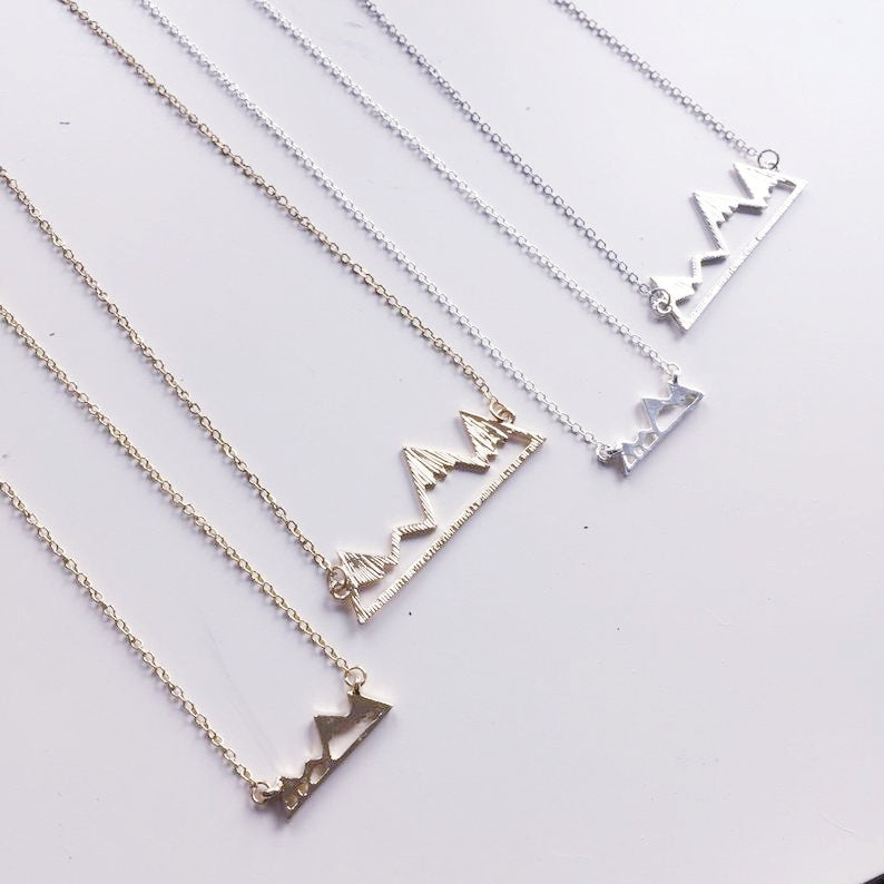Anne Franklin Designs Small Colorado Mountains | Silver | Necklaces | $20