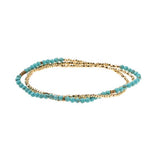 Scout Bracelet Becomes A Necklace Delicate | Turquoise/Gold | Jewelry | $22