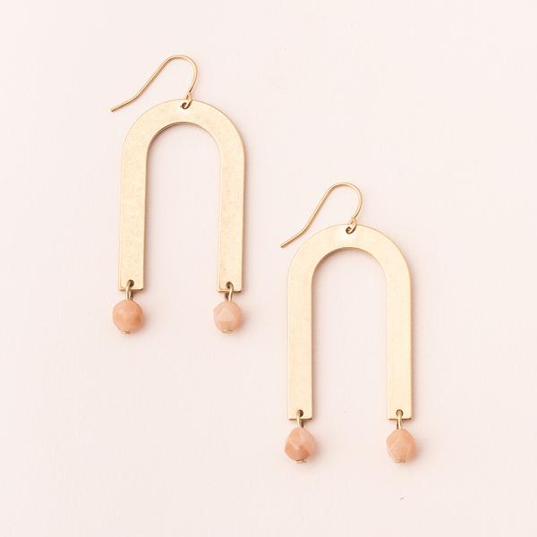 Scout Stone Arches | Sunstone/Gold | Earrings | $22