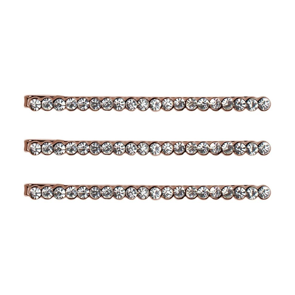 Kitsch Rhinestone Bobby Pins | Rose Gold | Hair Accessories | $12