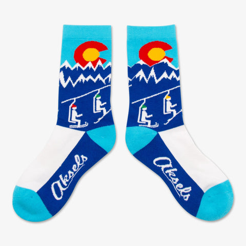 Aksels Youth | Colorado Ski Lift | Socks | $15.50