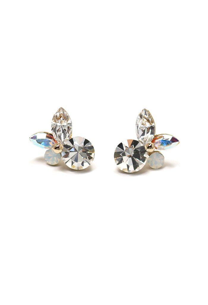 Lover's Tempo Corsage Posts | Clear | Earrings | $55