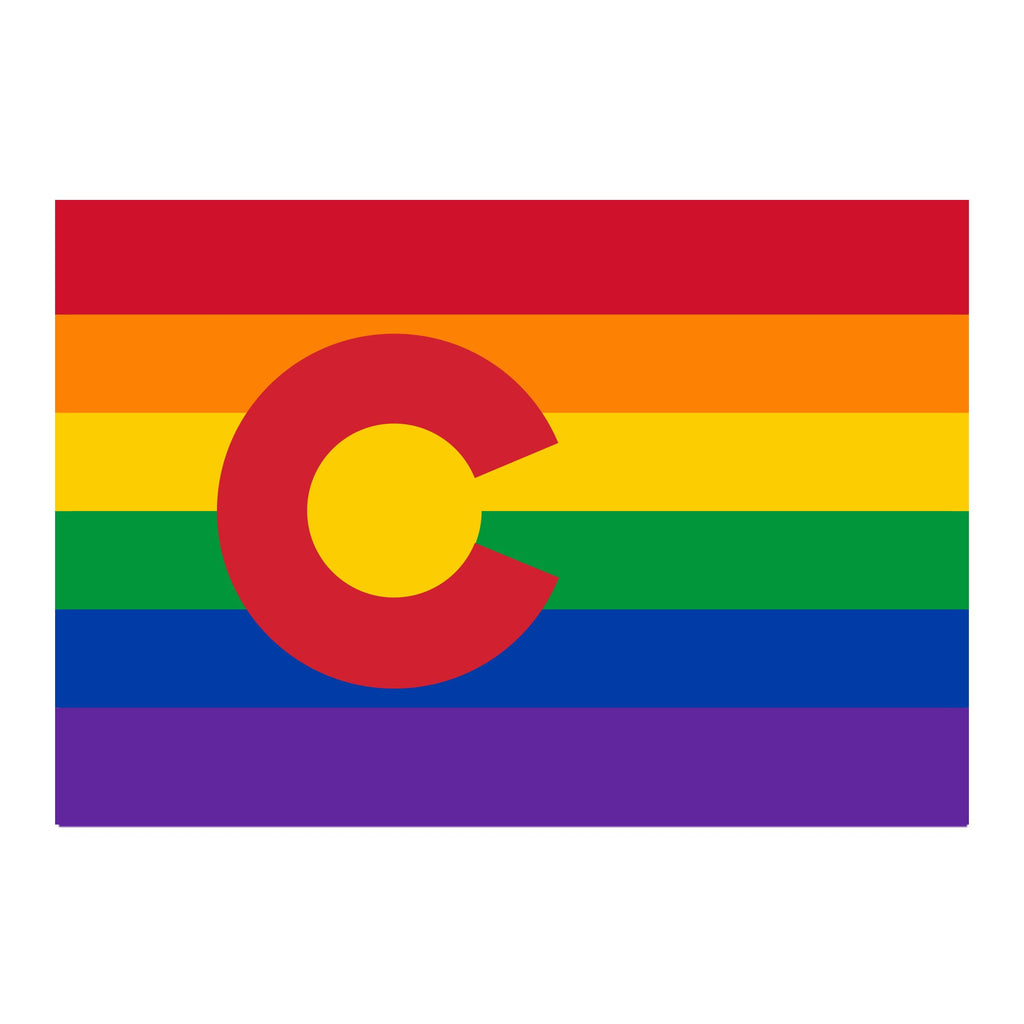 Aksels Vinyl Sticker Large | Colorado Flag Pride | Home & Gifts | $5
