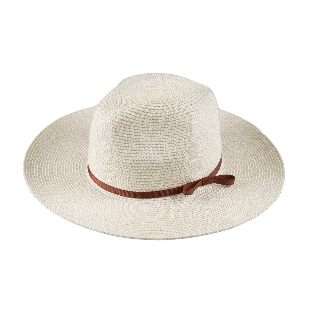 Hat Stack Paper Braid Wide Brim Fedora | Ivory | Hats | $30